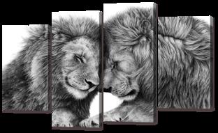 Два льва 126* 82,5 см