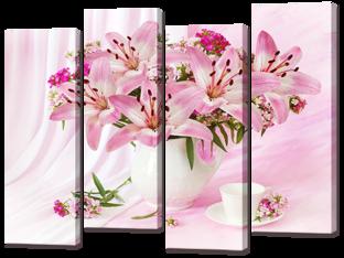 Розовый букет лилий 94* 69 см