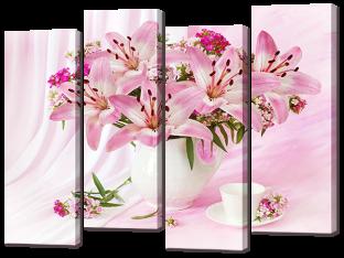 Розовый букет 94* 69 см