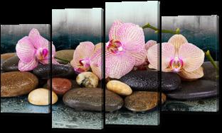 Орхидеи на камнях 126* 76,5 см