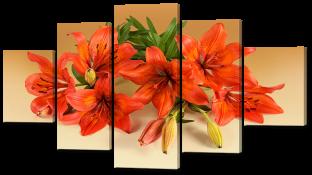 Оранжевые лилии букет 140* 80 см