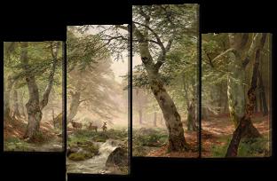 Олени в лесу 140* 80 см