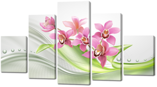 Орхидеи абстракция 140* 80 см
