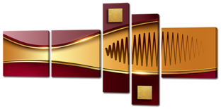 Абстракция золото и бордо 168* 84 см