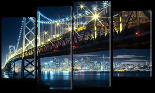 Мост ночью 126* 76,5 см