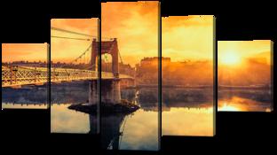Вид на закат и мост 140* 80 см