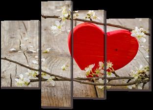 Деревянное сердце 135* 100 см