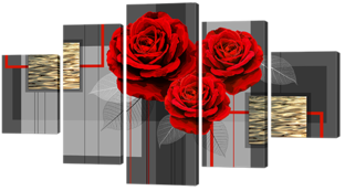 Розы и золото 140* 80 см