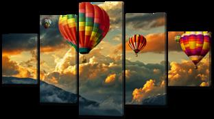 Воздушные шары в небе 140* 80 см