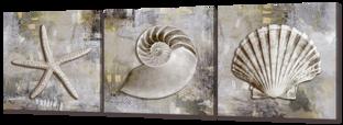 Три морские раковины 193* 63 см