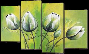 Тюльпаны на зелёном фоне 126* 80 см