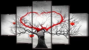 Дерево с сердцем 140* 80 см