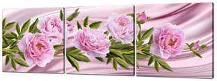 Розовые пионы на розовом 193 * 63 см