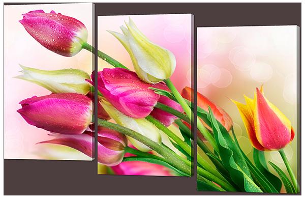 Букет тюльпанов 124* 80 см