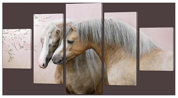 Лошади пара 140* 80 см
