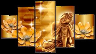 Будда и лотосы 140* 80 см