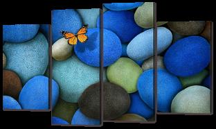 Бабочка на камнях 126* 76,5 см