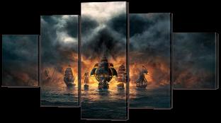 Пиратский бой 140* 80 см
