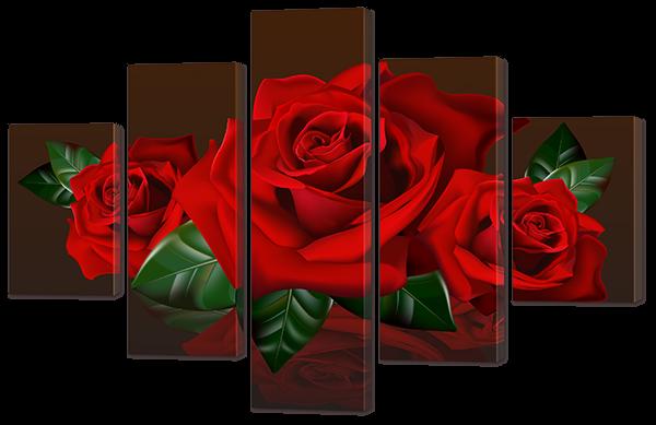 Три красные розы 108* 70 см