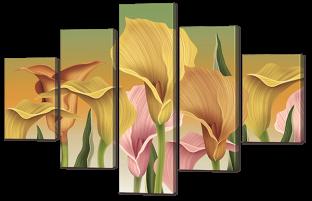 Каллы разноцветные 108* 70 см