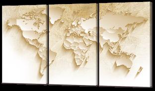 Карта мира 124* 70 см