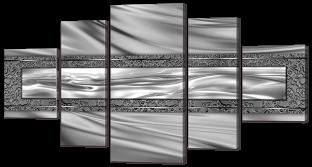 Абстракция серебристая
