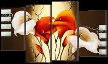 Цветы каллы и ветки