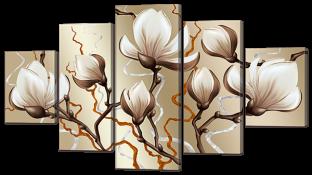 Цветы магнолии абстракция