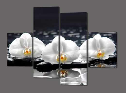 Картина модульная цветы