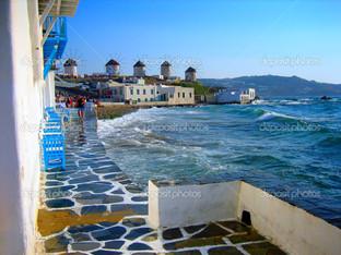 ветряные мельницы на Миконос Айленд Греция