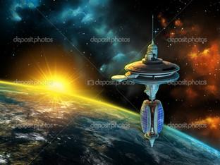 космический корабль планета