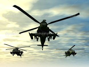 три вертолёта