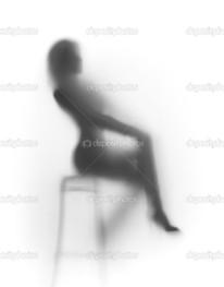 женщина сидит силуэт