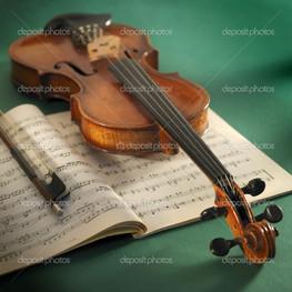 скрипка смычок и ноты