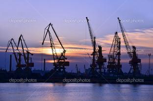 Одесса порт на закате