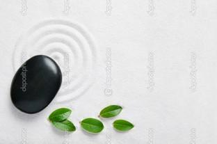дзен-сад листья
