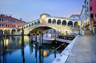 утро Риальто мост в Венеции