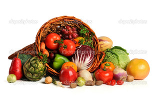 корзина овощи