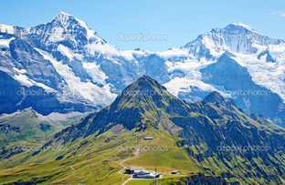 вершины гор панорама