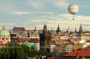 воздушный шар над Прагой