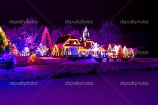 рождество парк лес домик