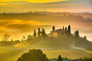 Тоскана утром