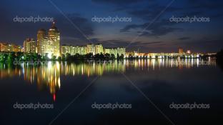 набережная ночь Киев