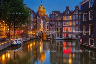 Амстердам в ночи