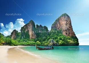 пляж на острове Краби Таиланд