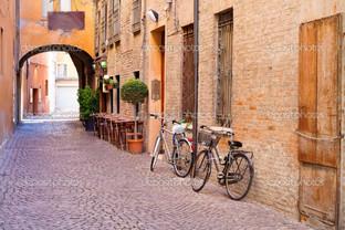 старый город велосипед
