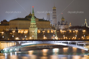 Кремль ночью