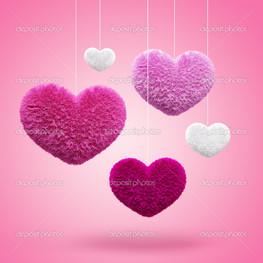 розовые сердца