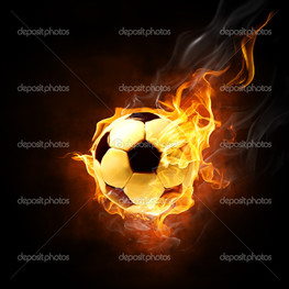 футбольный мяч огонь