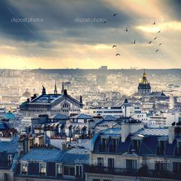Париж город панорама